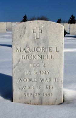 Marjorie L Bicknell