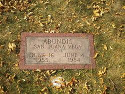 """San Juana Vega """"Janie"""" Abundis"""
