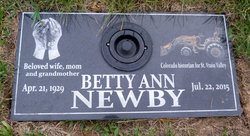 "Elizabeth Ann ""Betty"" <I>Whitmore</I> Newby"