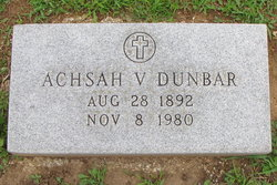 Achsah Victoria <I>Clark</I> Dunbar