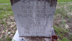 Pauline Virginia <I>Lloyd</I> Bryan