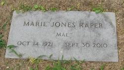 "Marie ""Mae"" <I>Jones</I> Raper"