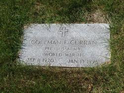 Coleman F Curran