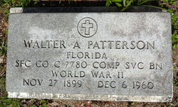 Walter A Patterson