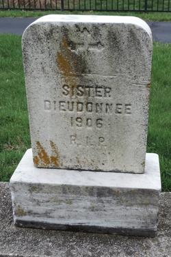 "Elizabeth ""Sr Dieudonne"" Hieronimy"