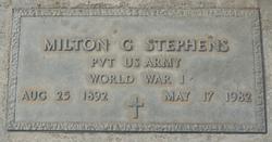 Milton G. Stephens