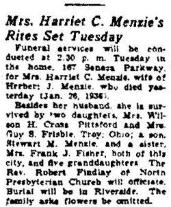Harriet Clarena <I>Chappell</I> Menzie