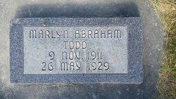 "Marlyn Abraham ""Glen"" Todd"