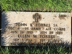John K Forbes, Sr