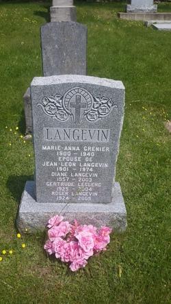 Marie-Anna <I>Grenier</I> Langevin