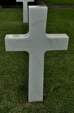Pvt William A O'Haier