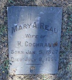 Mary A <I>Read</I> Cochran