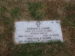 Virginia E Curry