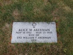 Alice M Akerman