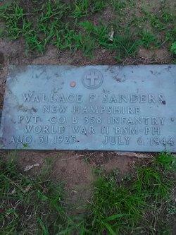 Pvt Wallace F Sanders