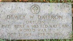Dewey Willard Daffron