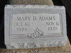 Mary Elizabeth <I>Ducote</I> Adams