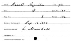Corp Augustus Arsell, Jr