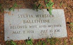 Sylvia <I>Webster</I> Ballentine