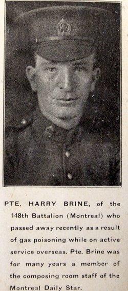Pvt Harry Thomas Brine