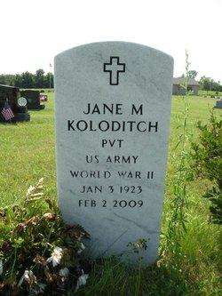 Jane E <I>Mohler</I> Koloditch