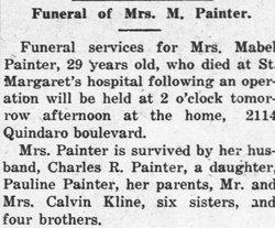 Laura Mabel Kline Painter (1888-1918) - Find A Grave Memorial
