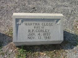 "Martha Frances ""Mattie"" <I>Clegg</I> Corley"