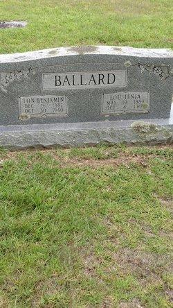 """Alonzo Benjamin """"Lon"""" Ballard"""