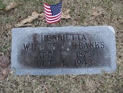 Henrietta <I>Conway</I> Banks