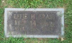 Effie Elizabeth <I>Hemphill</I> Craig