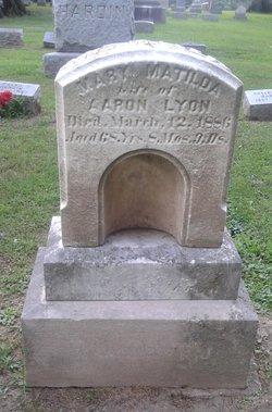 Mary Matilda <I>Oakley</I> Lyon