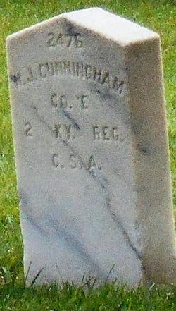 Pvt W J Cunningham
