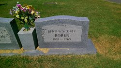 Bertha <I>Scobey</I> Boren