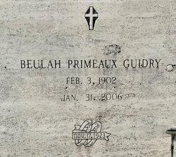 Beulah <I>Primeaux</I> Guidry