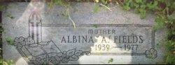 "Albina Ann ""Beanie"" <I>Kruger</I> Fields"