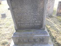 Hattie E. <I>Peck</I> Allen
