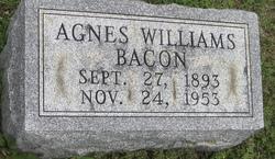 Agnes <I>Williams</I> Bacon