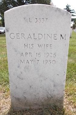 Geraldine M Dewars