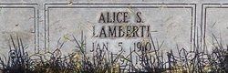 Alice S Lamberti