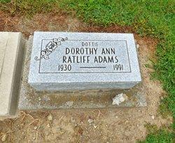 Dororthy Ann <I>Ratliff</I> Adams