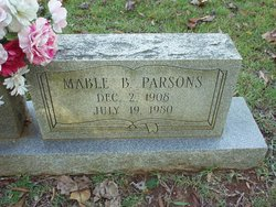 Mable Beatrice <I>Smith</I> Parsons