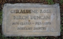 Geraldine Rose <I>Birch</I> Duncan