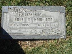 Rose Mae <I>Hawkins</I> Hamilton