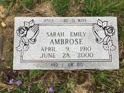 Sarah Emily Ambrose