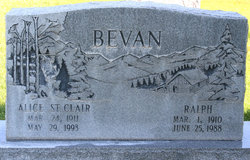 Alice <I>St Clair</I> Bevan