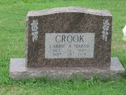 Carrie A. <I>Marsh</I> Crook