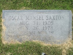 Oscar Mansel Saxton