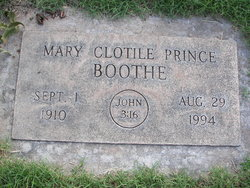 Mary Clotile <I>Prince</I> Boothe