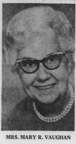 Mary <I>Reifers</I> Vaughan