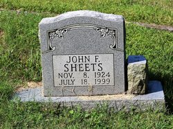 John F Sheets, Jr